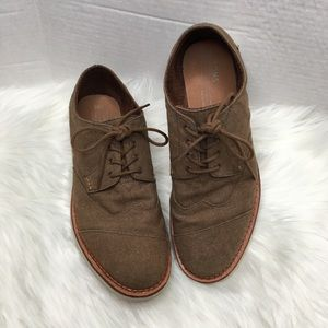 Toms Brogue Oxford brown shoes 8.5